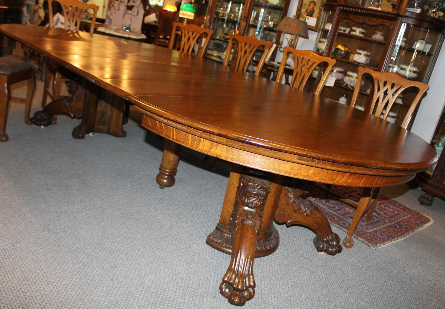 Bargain John S Antiques 187 Blog Archive Round Oak Dining