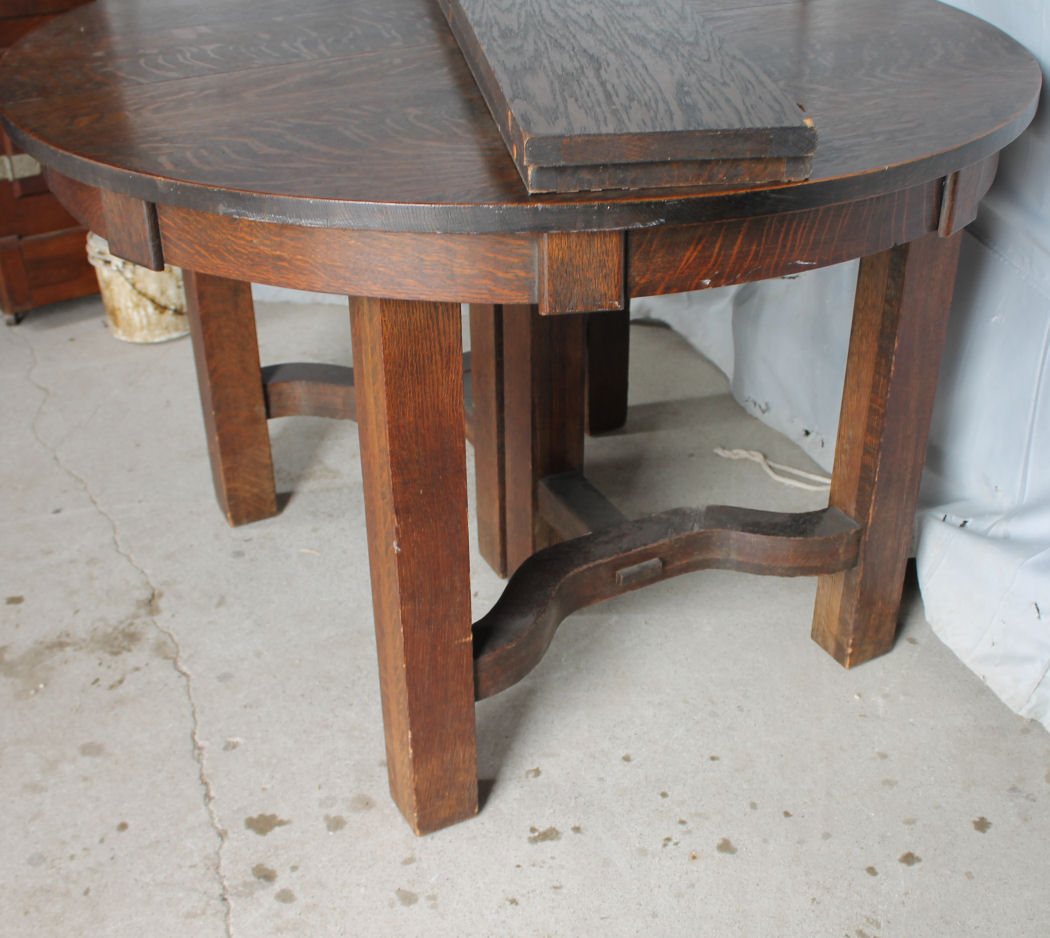 Bargain John 39 S Antiques Blog Archive Round Mission Oak Dining Table B
