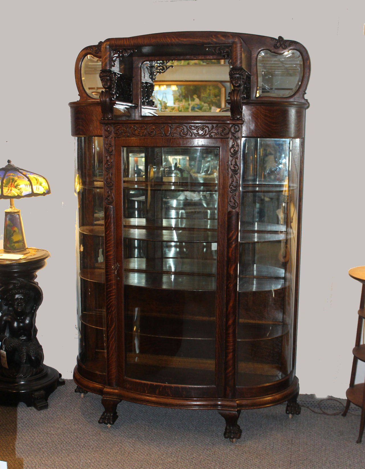 Bargain John S Antiques Great Oak China Cabinet With