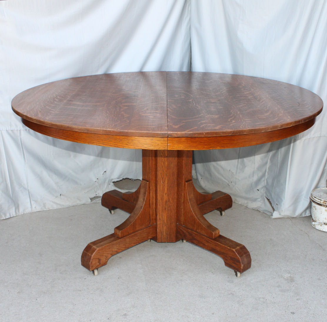 mission oak dining room round table gustav stickley