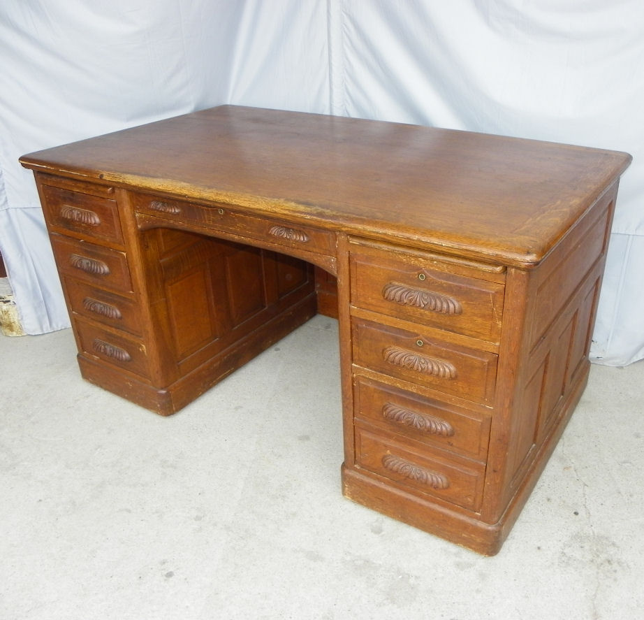 Bargain John S Antiques Antique Oak Paneled Executive