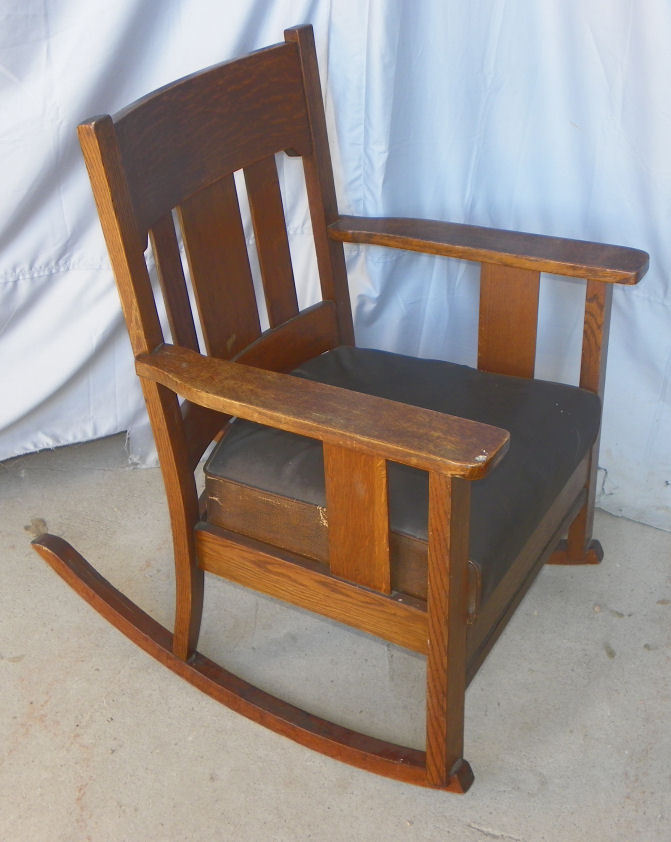 Bargain Johnu0026#39;s Antiques u00bb Blog Archive Antique Arts and Crafts Mission Oak Rocker - original ...