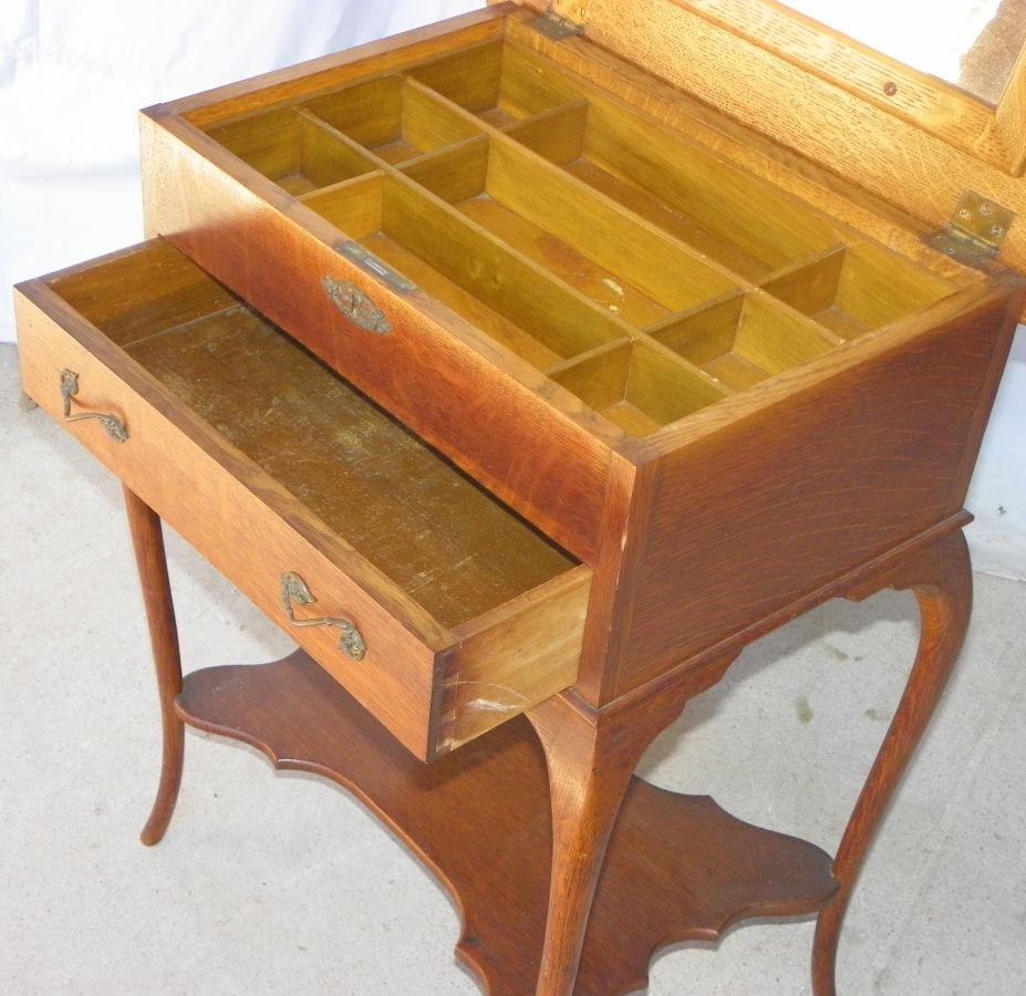 Bargain John S Antiques Antique Oak Sewing Storage