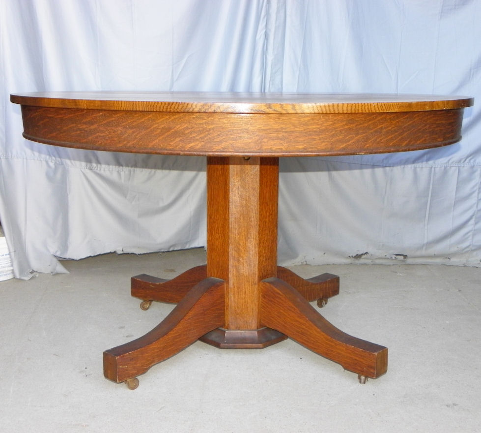 Bargain John S Antiques Antique Round Oak Dining Table