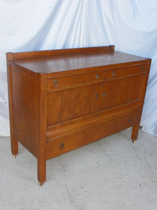 Bargain John S Antiques Antique Mission Oak Buffet Or