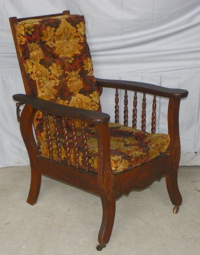 vintage morris chair bargain s antiques child s antique oak morris 3249