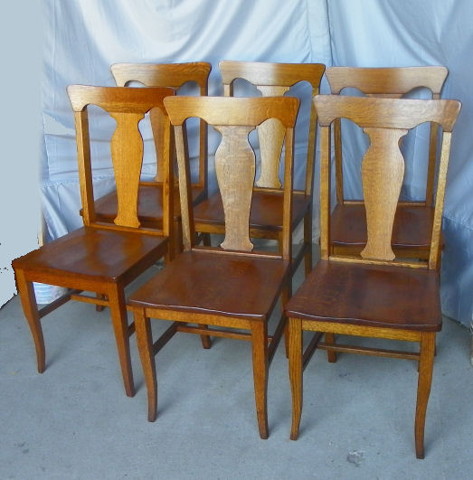 Bargain John S Antiques Set Of Six Antique Oak Chairs T