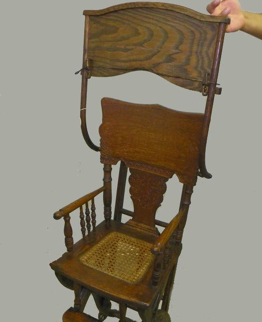 Bargain John S Antiques Antique Oak High Chair And