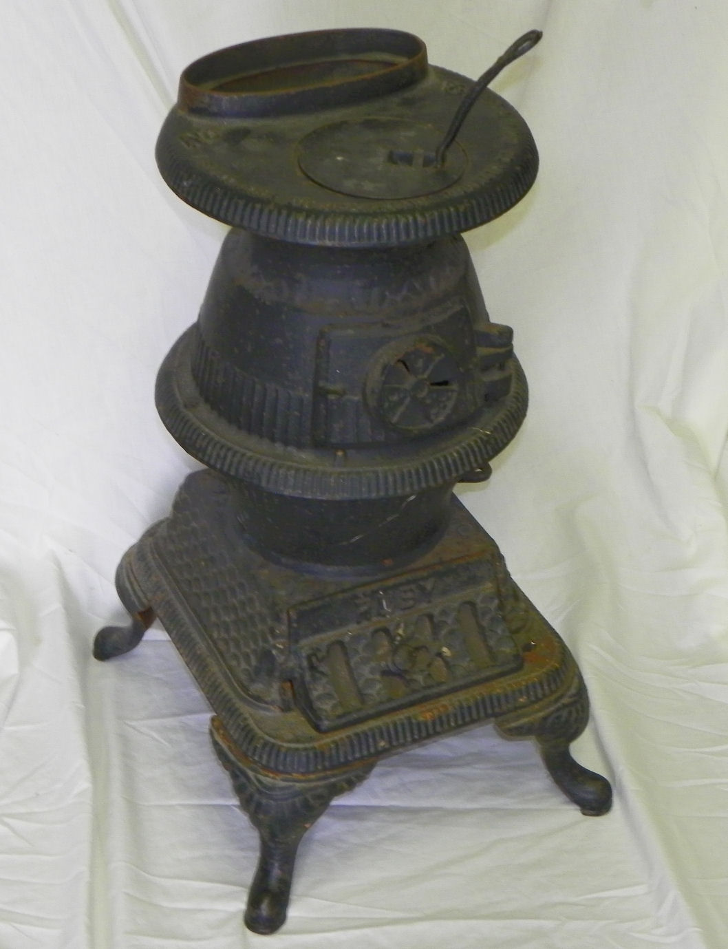 Bargain John S Antiques Small Cast Iron Pot Belly Stove