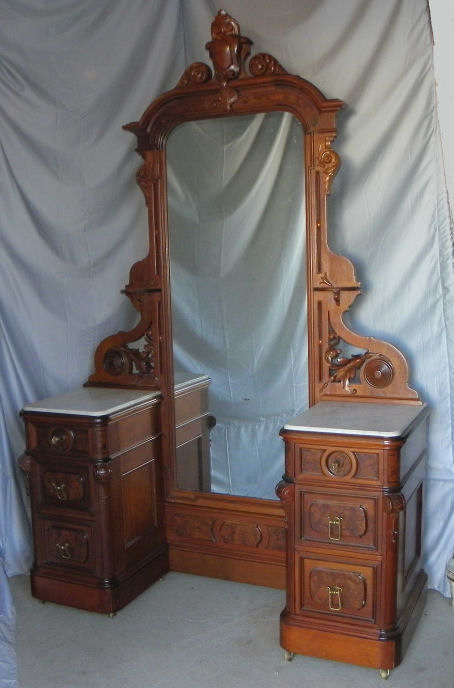 Bargain John S Antiques Antique Victorian Walnut Marble