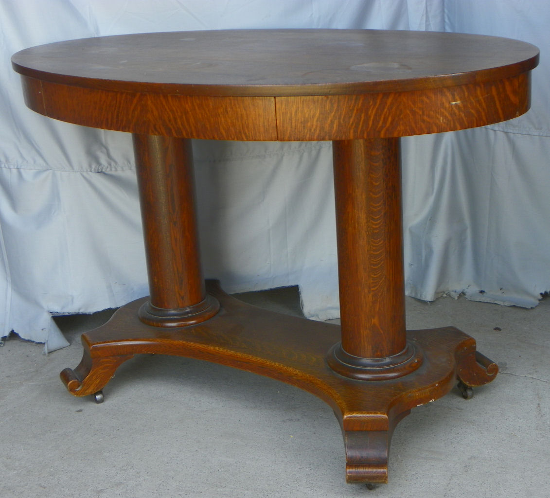Bargain John S Antiques Antique Oval Library Table