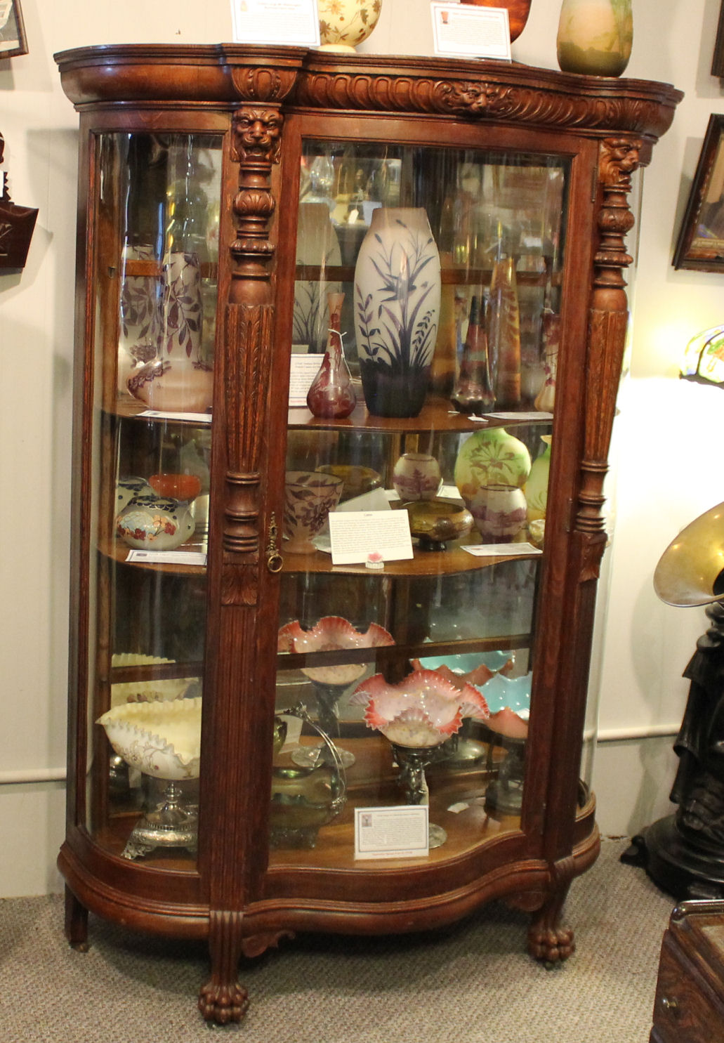 Glass Antique Cabinet