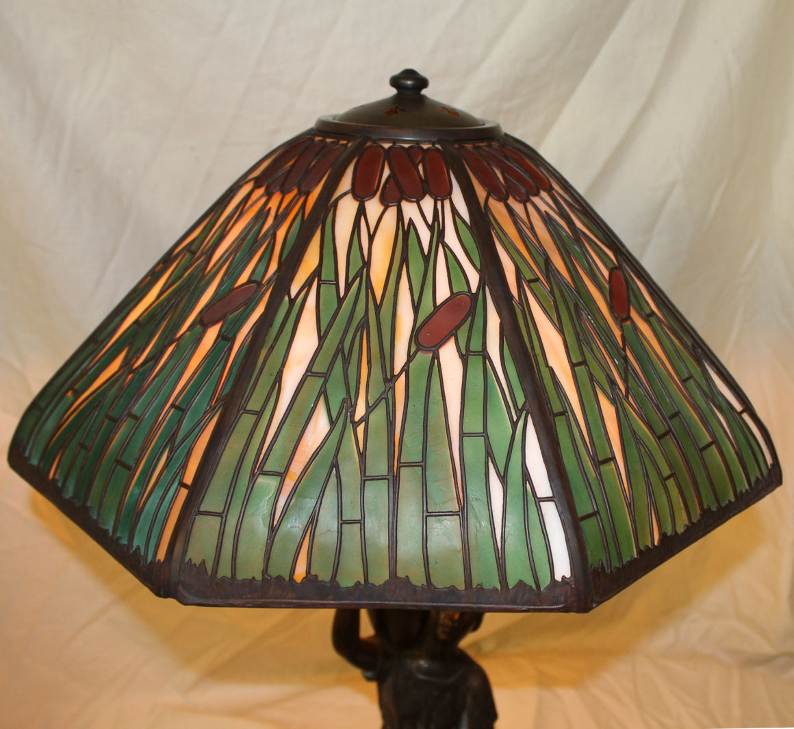 Bargain John S Antiques Handel Lamp With Figural Base