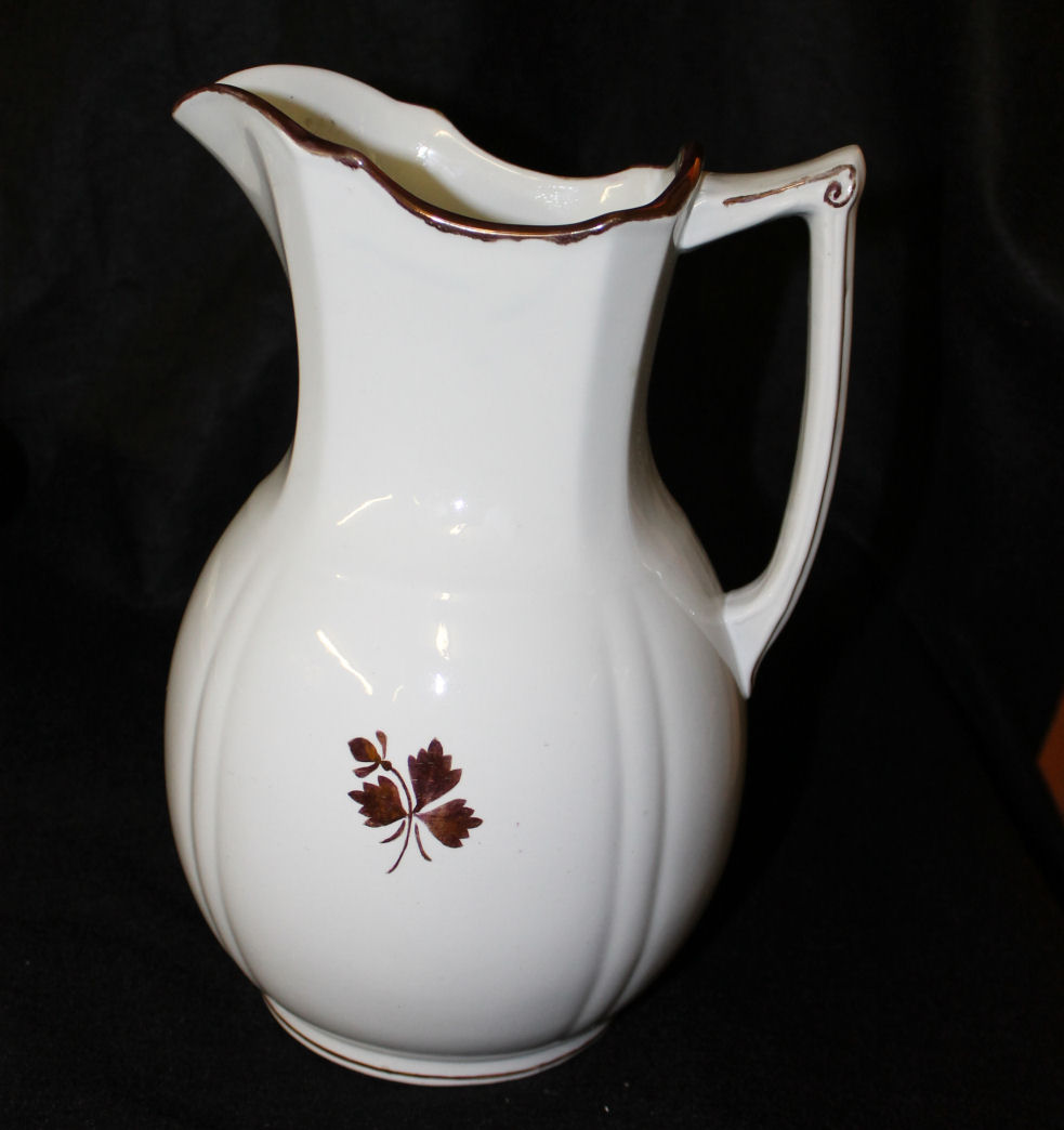 Bargain John S Antiques Tea Leaf Large Pitcher And Bowl