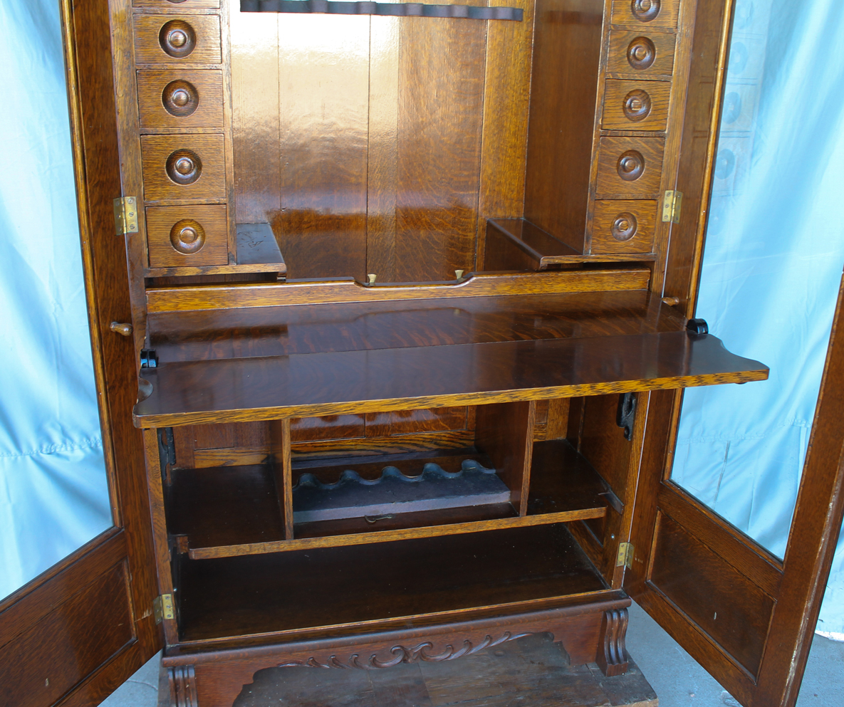 Bargain John S Antiques Antique Oak Gun Cabinet