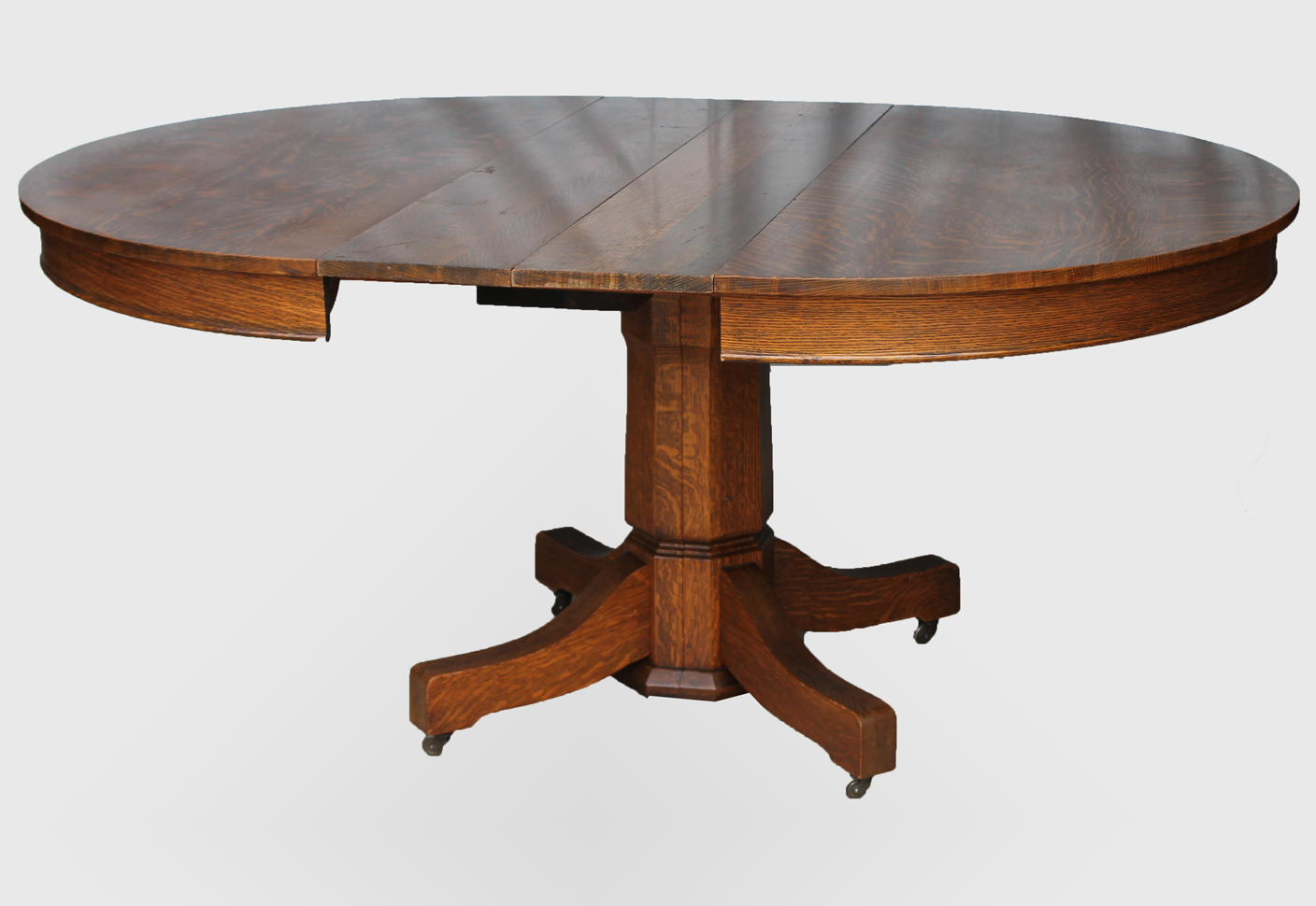 Bargain John S Antiques Round Oak Table 8 Leaves