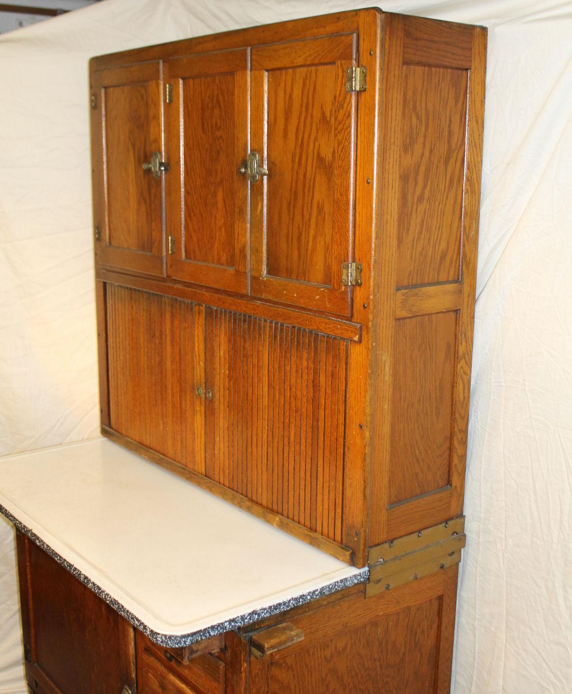 Bargain John's Antiques | Oak Hoosier Kitchen Cabinet ...