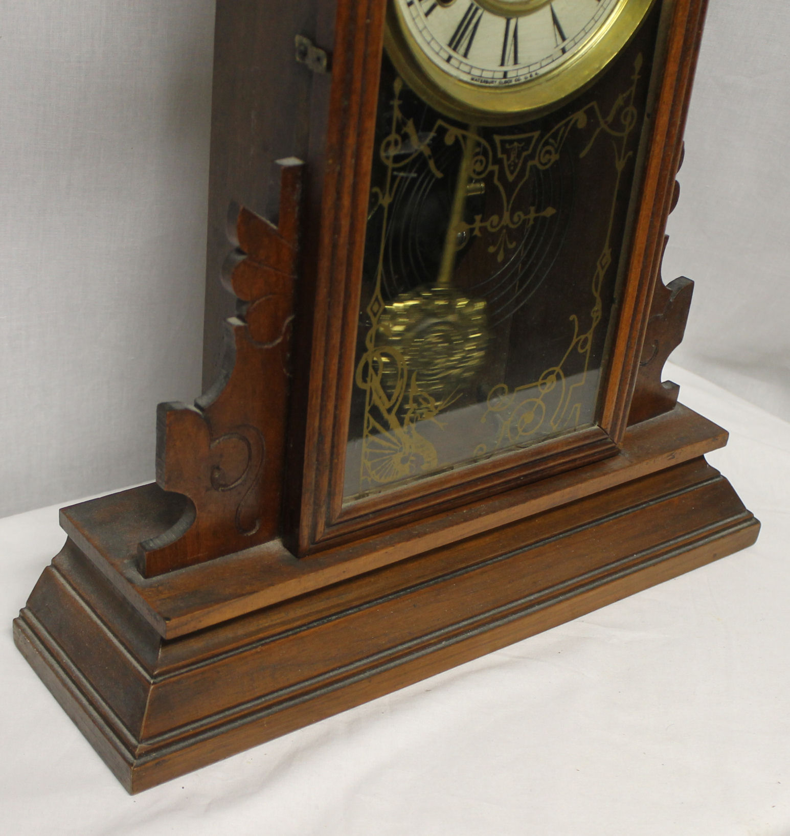Bargain John S Antiques Antique Walnut Waterbury Wooden
