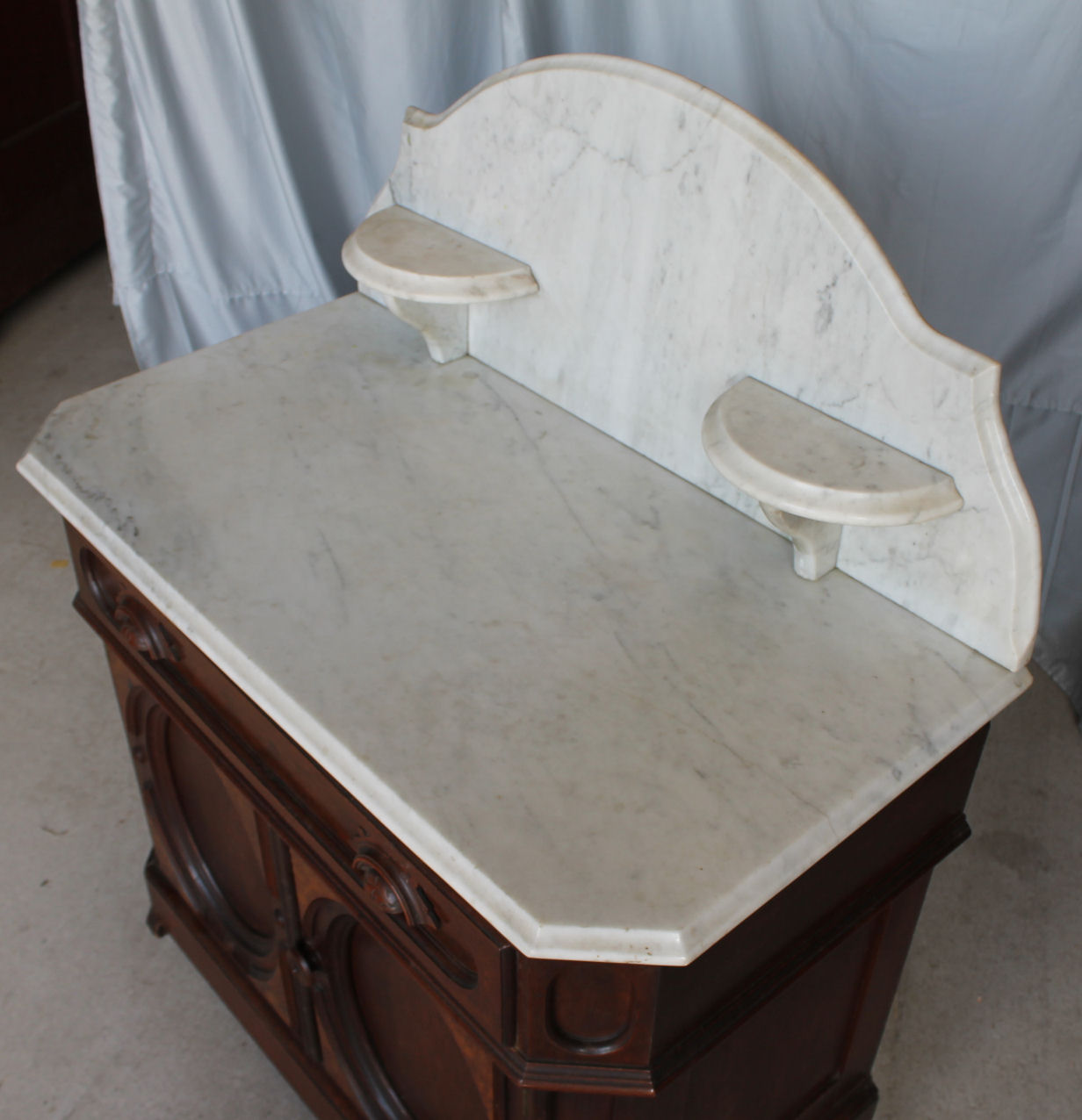 Bargain John S Antiques Victorian Marble Top Walnut