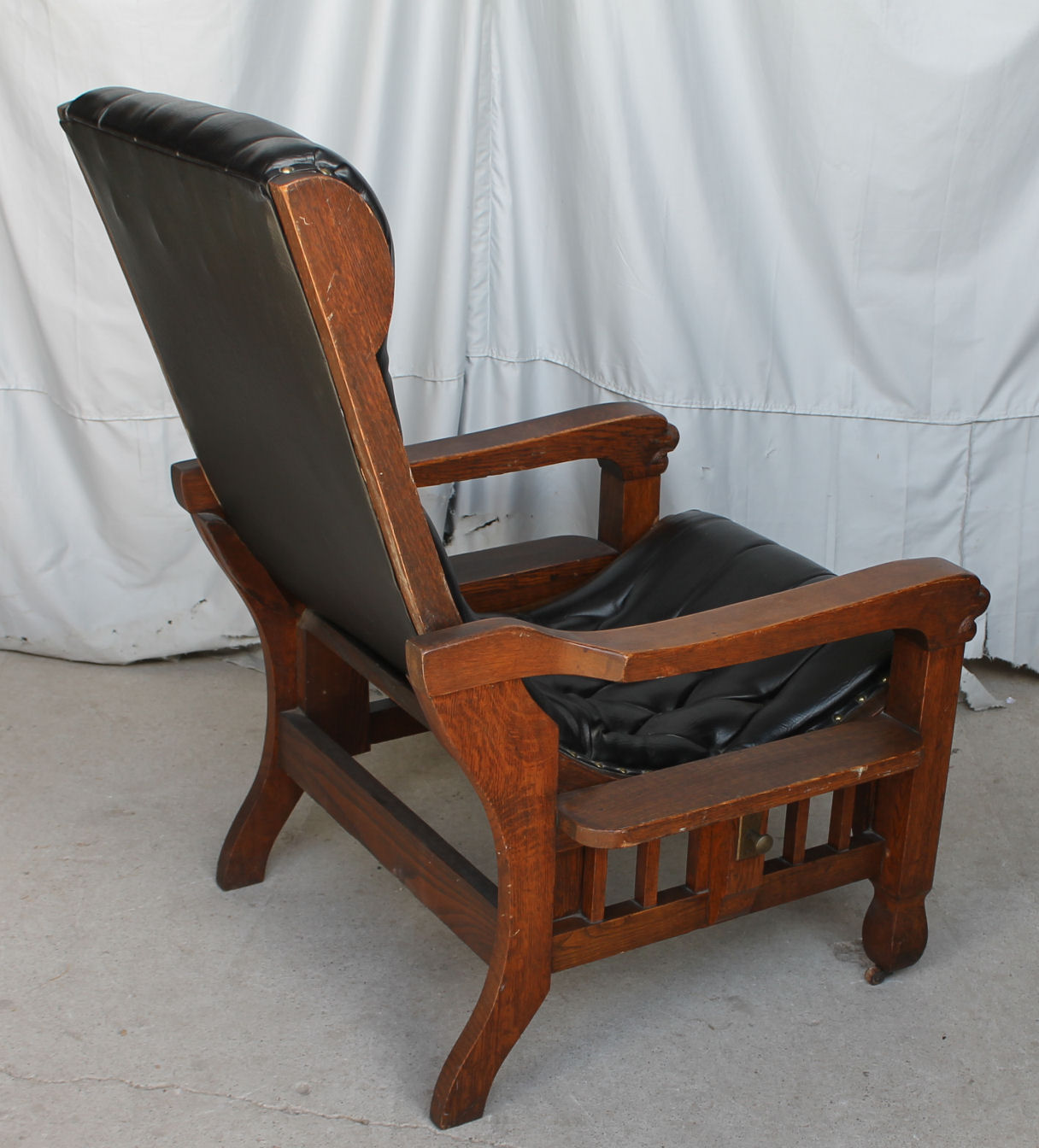 Bargain John S Antiques Rare Oak Morris Chair Unusual