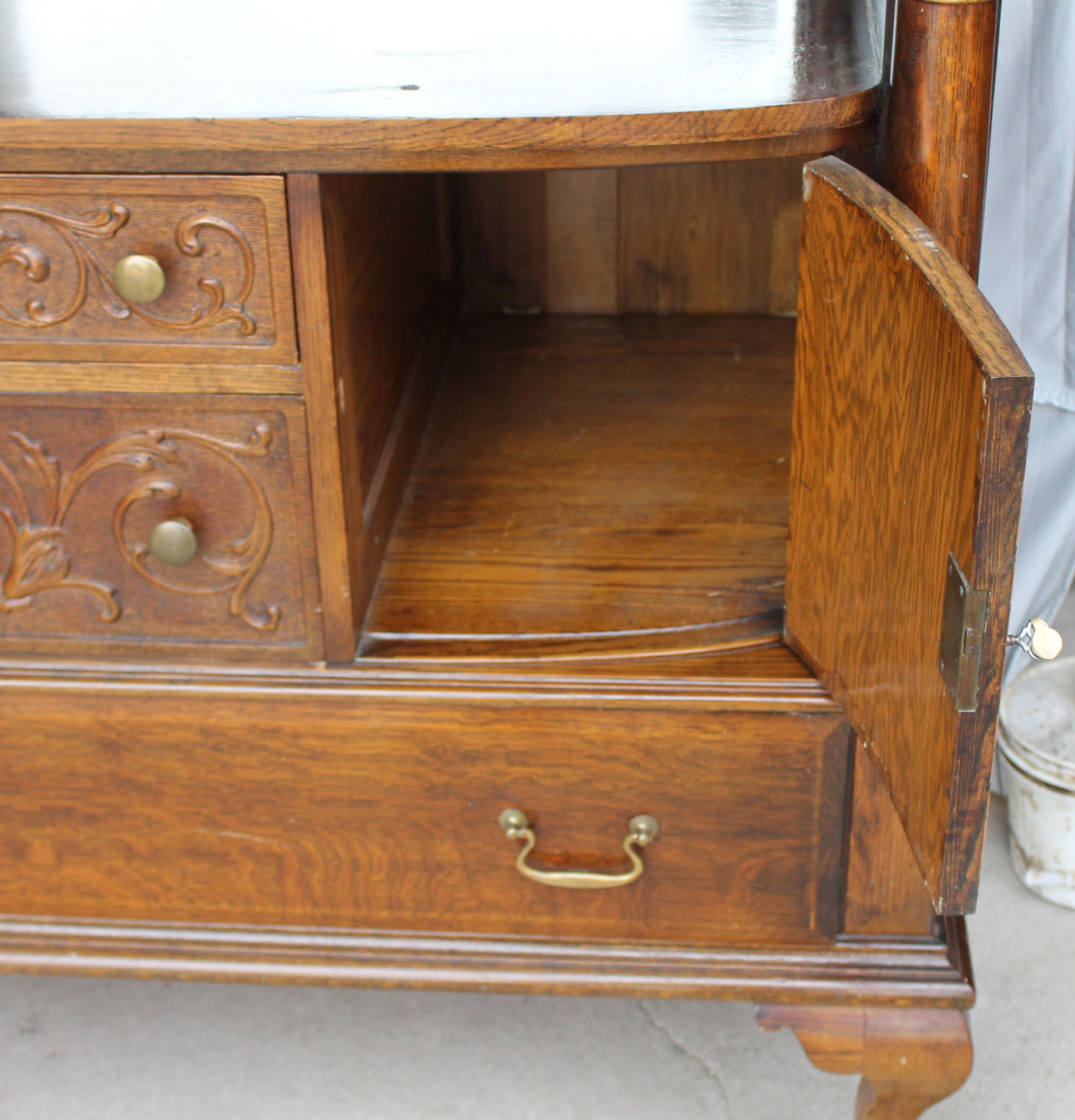 Bargain John S Antiques Large Antique Oak Sideboard