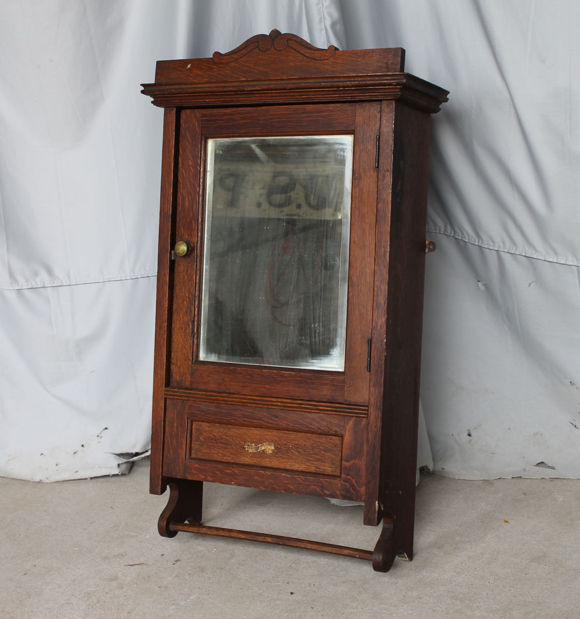 Bargain John S Antiques Antique Oak Medicine Cabinet