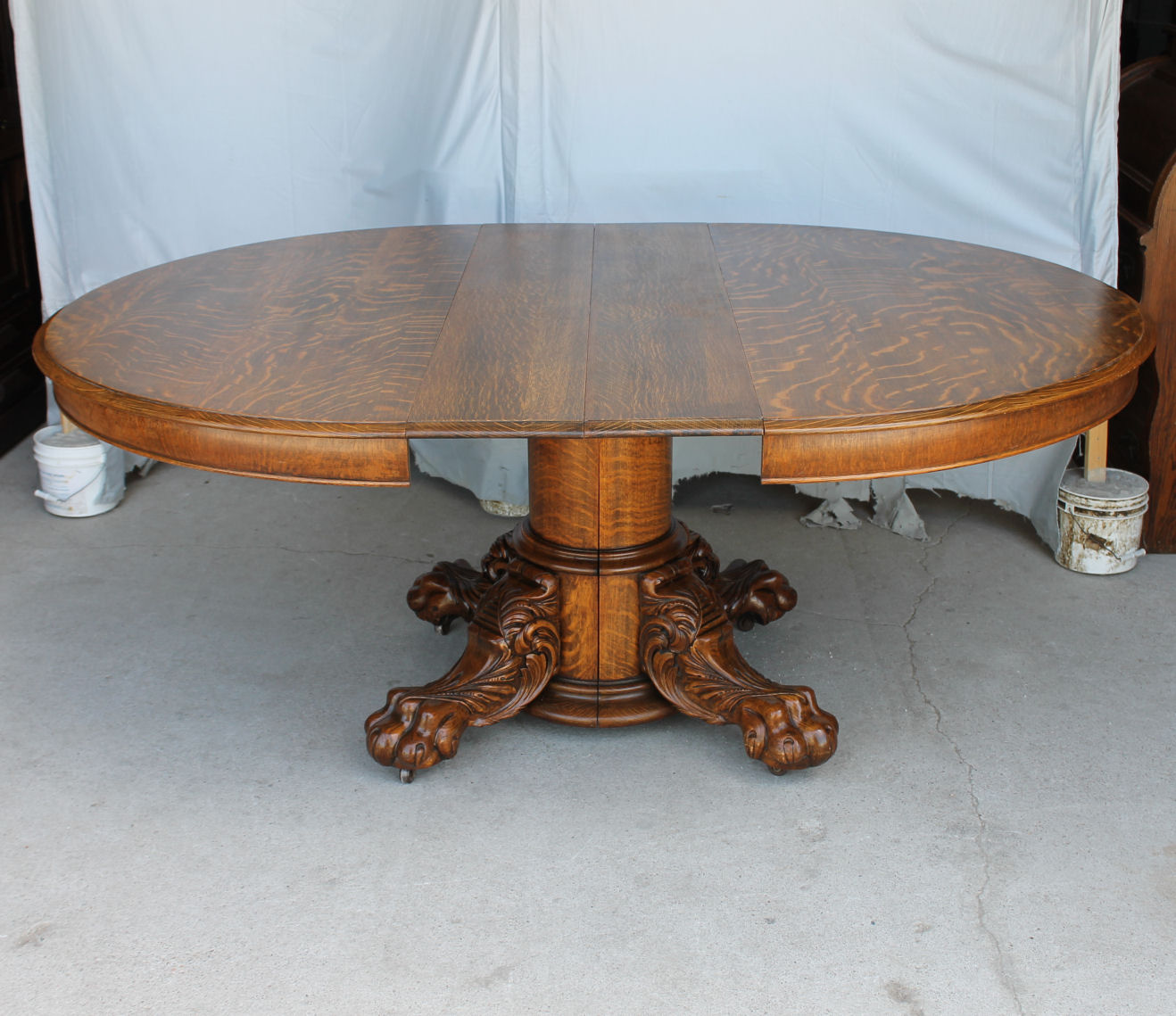 Bargain John S Antiques Round Oak Dining Table Large