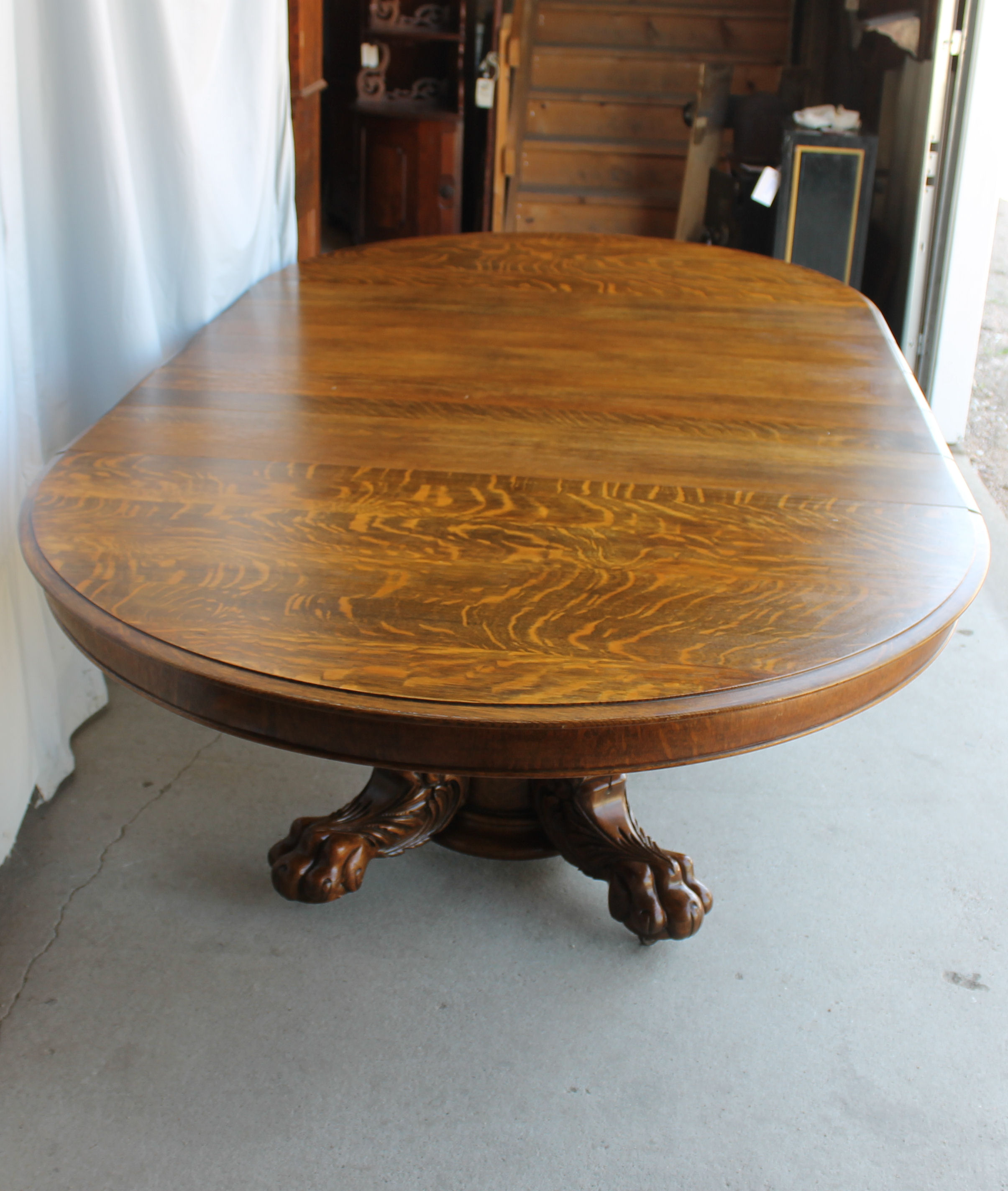 Bargain John S Antiques Round Oak Dining Table Large
