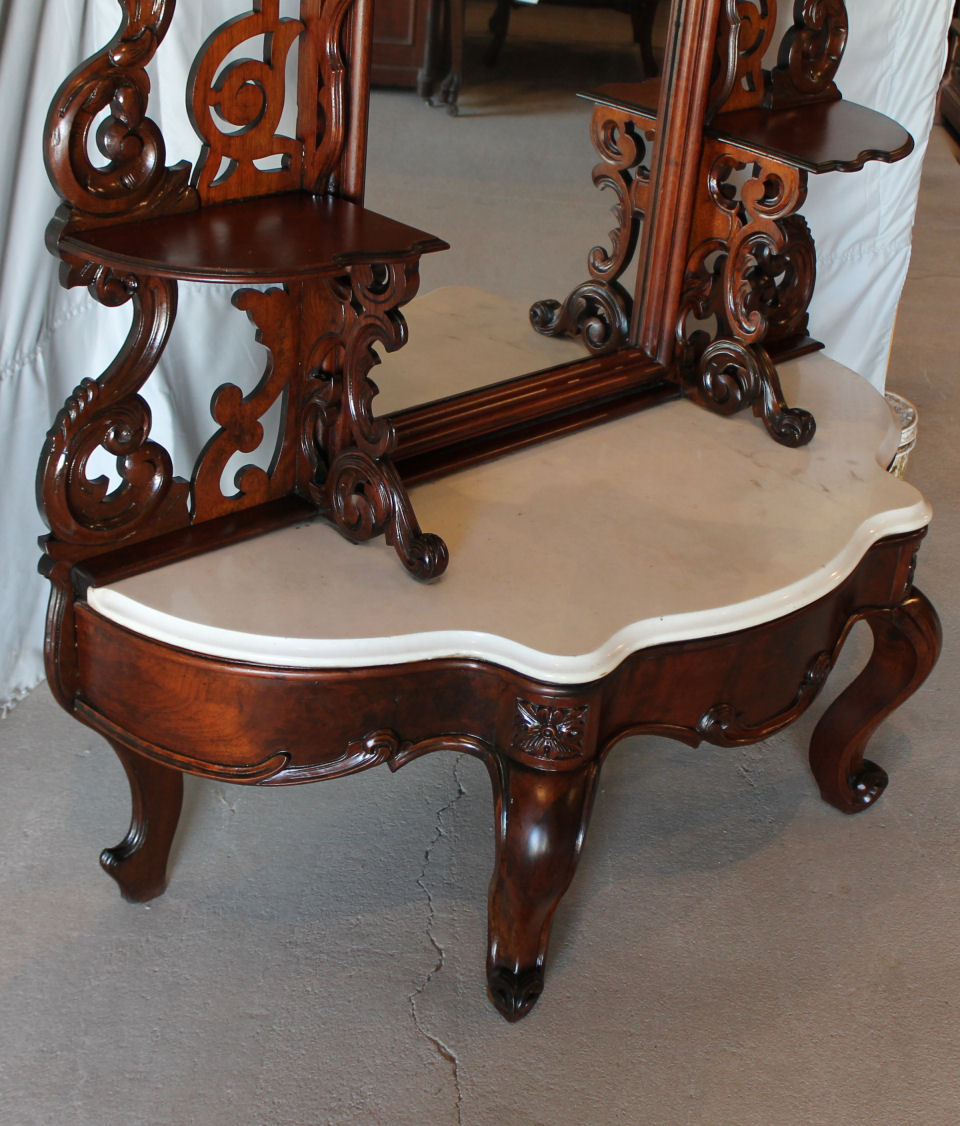 bargain john 39 s antiques blog archive antique victorian walnut etagere large mirror bargain. Black Bedroom Furniture Sets. Home Design Ideas