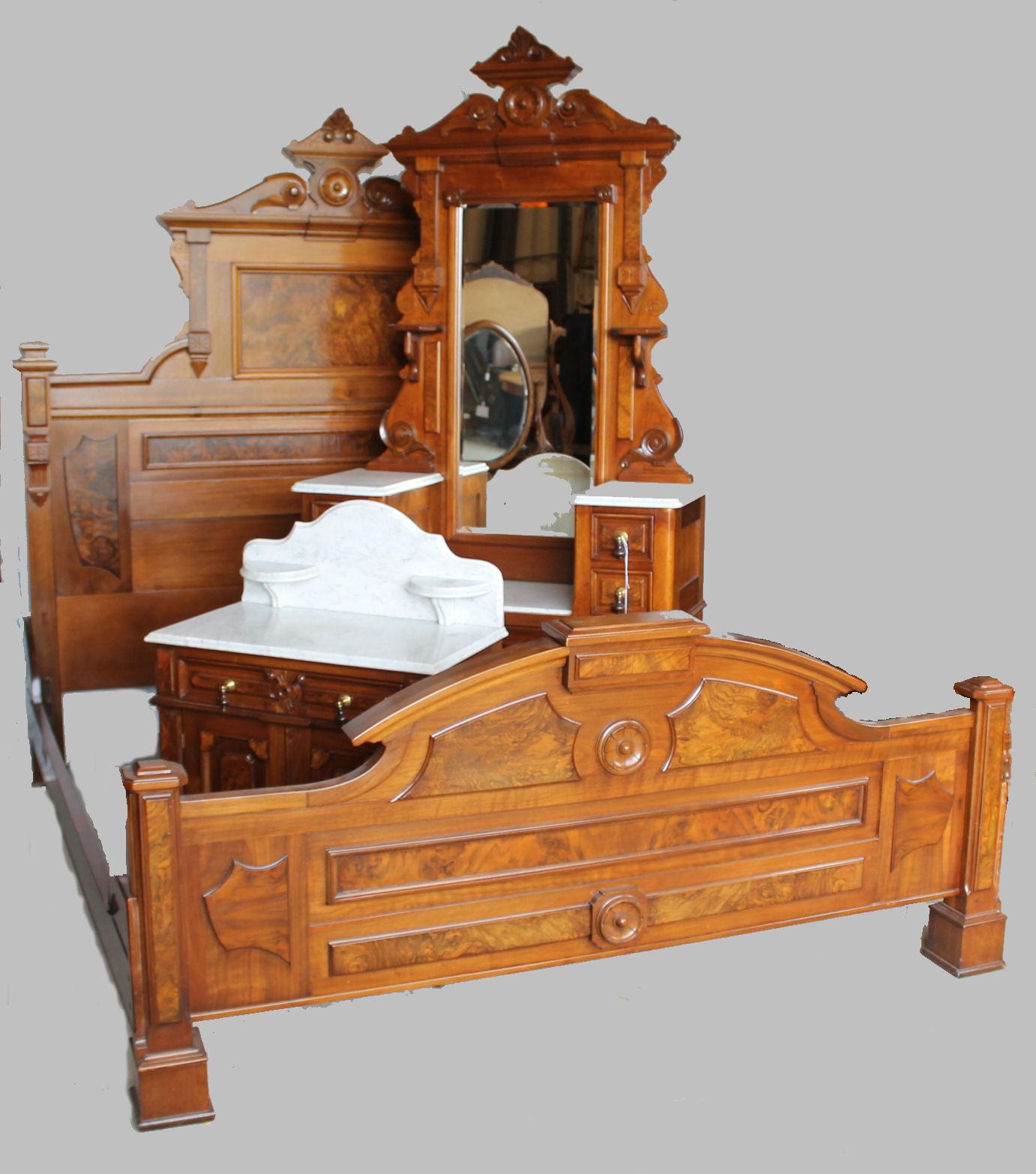 Bargain john 39 s antiques antique victorian walnut 3 piece for 3 bedroom set