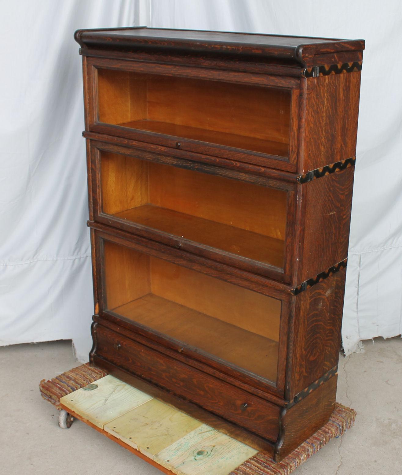 Bargain John S Antiques Oak Bookcase Stacking Barrister