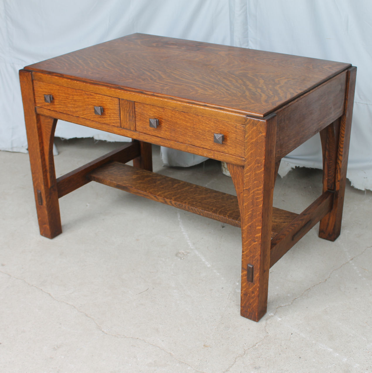Amazing Mission Oak Library Table Desk Made By Limbert Download Free Architecture Designs Scobabritishbridgeorg