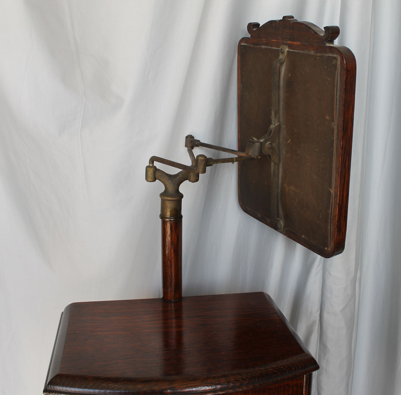 Bargain John S Antiques Victorian Oak Shaving Stand With