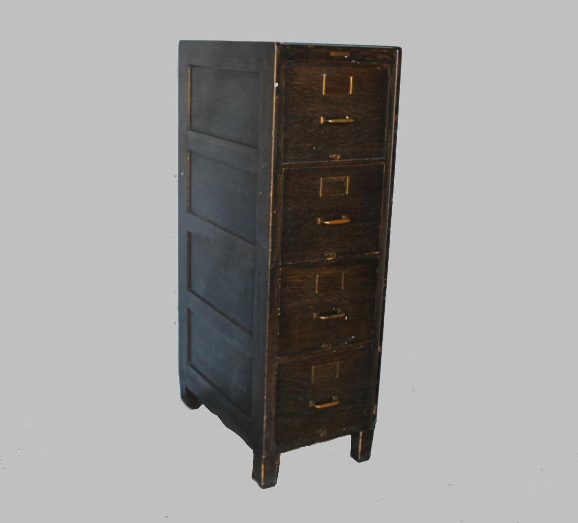 ... Oak Four Drawer File Cabinet U2013 Yawman And Erbe Mfg Co. Sold