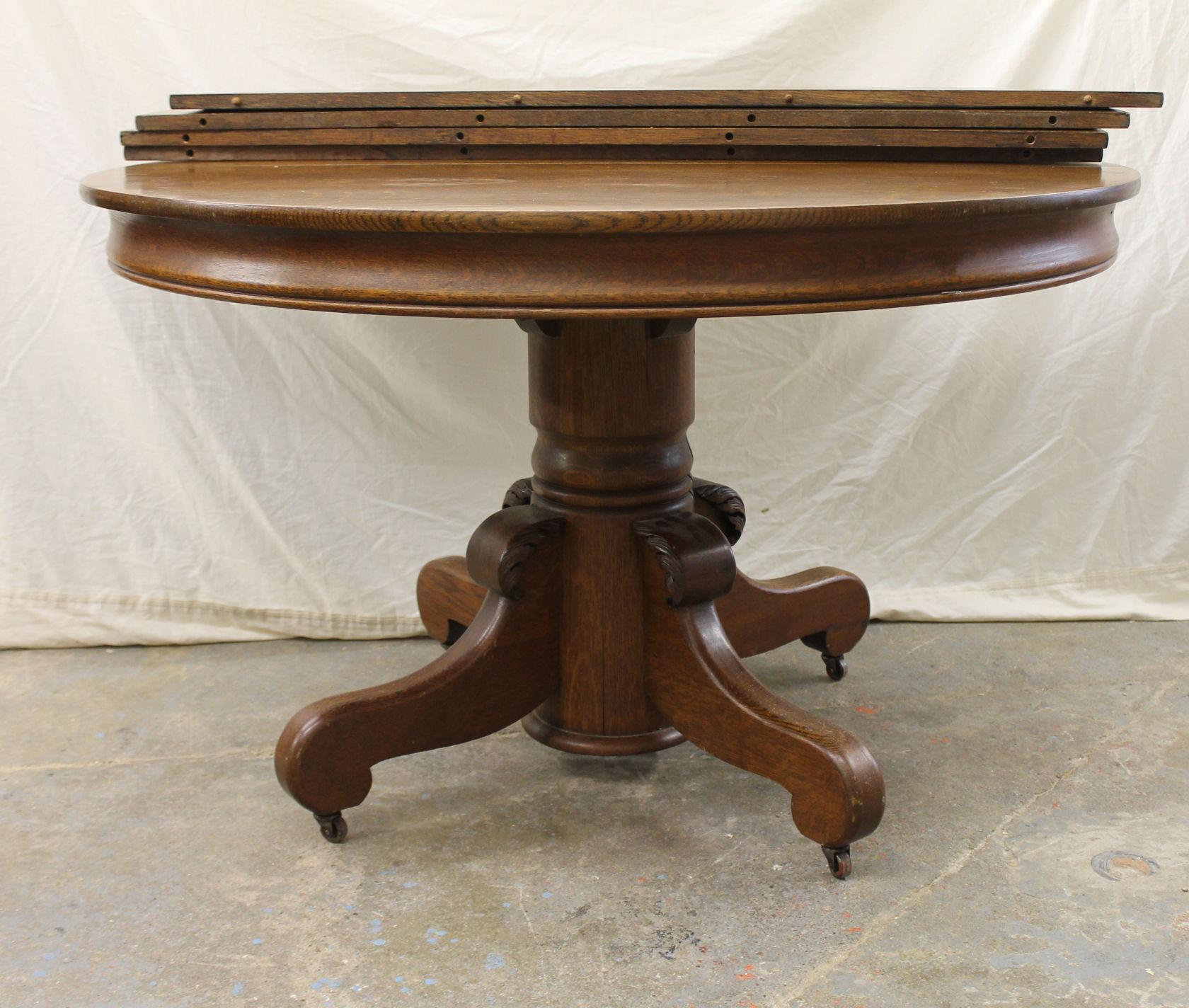 Bargain John S Antiques Antique Round Oak Pedestal Dining Table Bargain John S Antiques