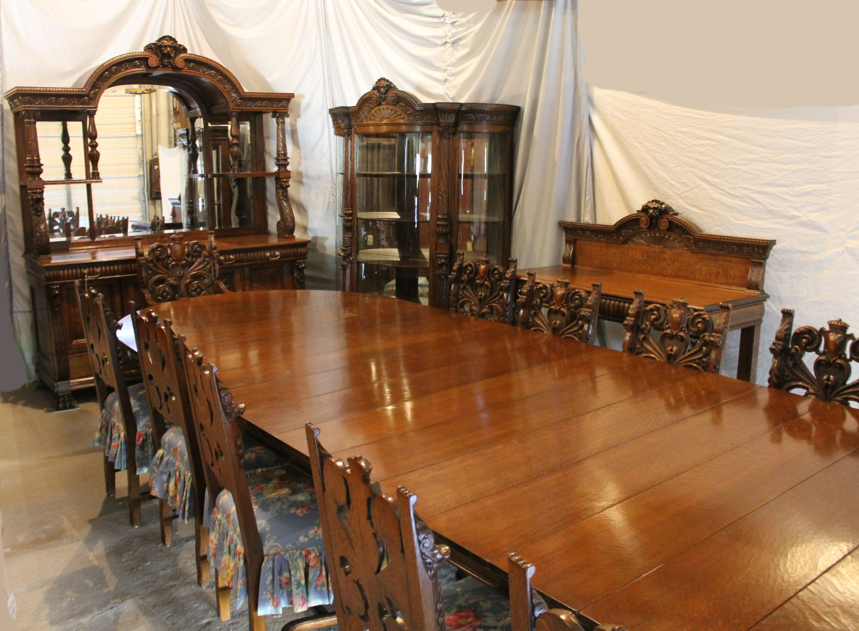 ... Collection / Antique Victorian 16 Piece Oak Dining Room Set. $65,000