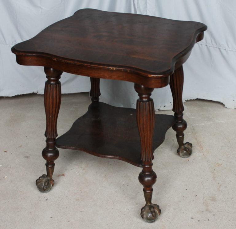 Bargain John S Antiques Antique Quarter Sawn Oak Lamp